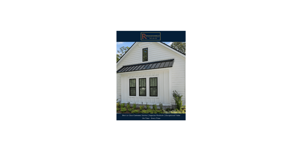 Renaissance windows & doors catalog cover
